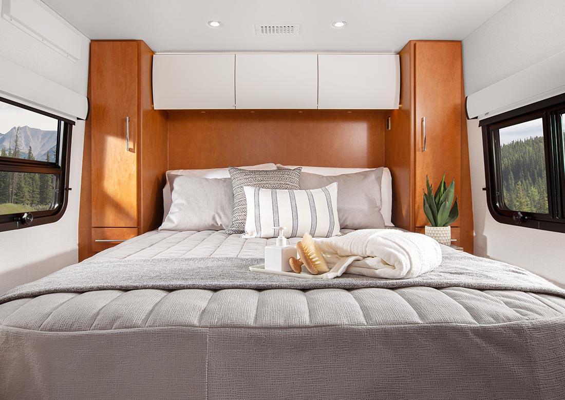 Walk-around island bed