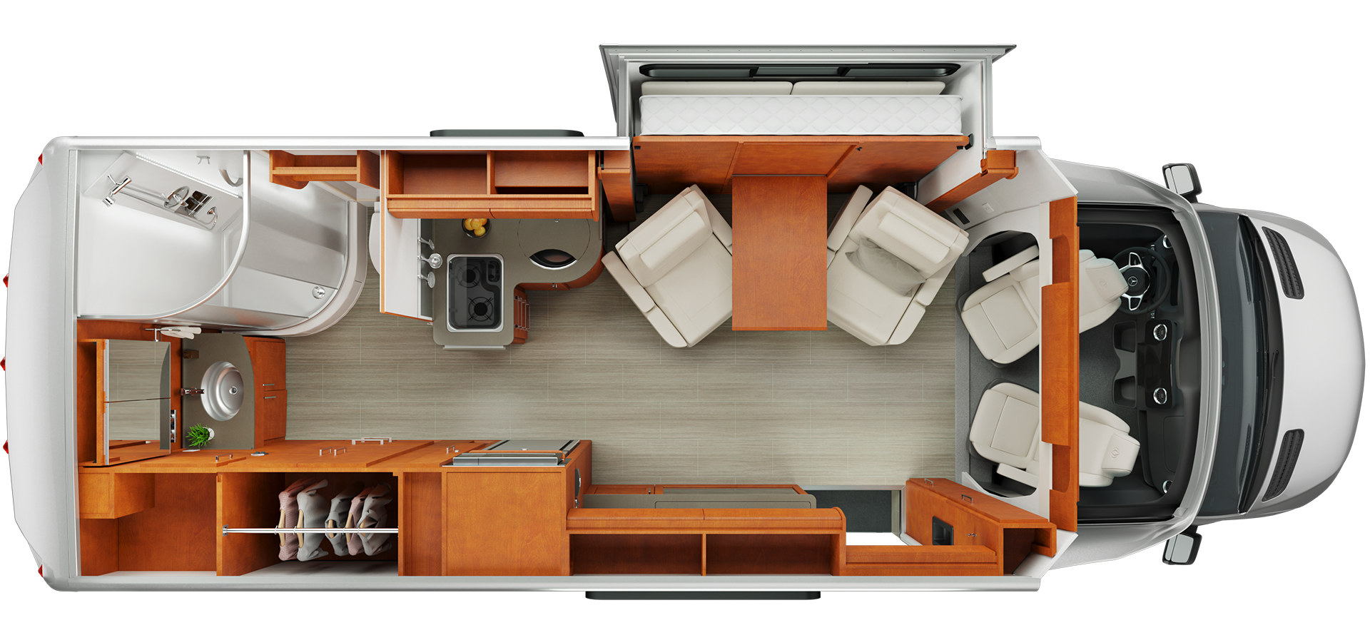 Floorplan Of A House Unity Floorplans Leisure Travel Vans