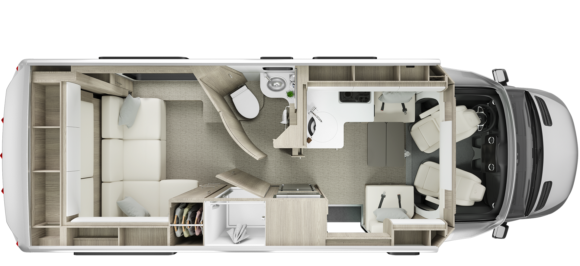 Unity Rear Lounge Floorplan
