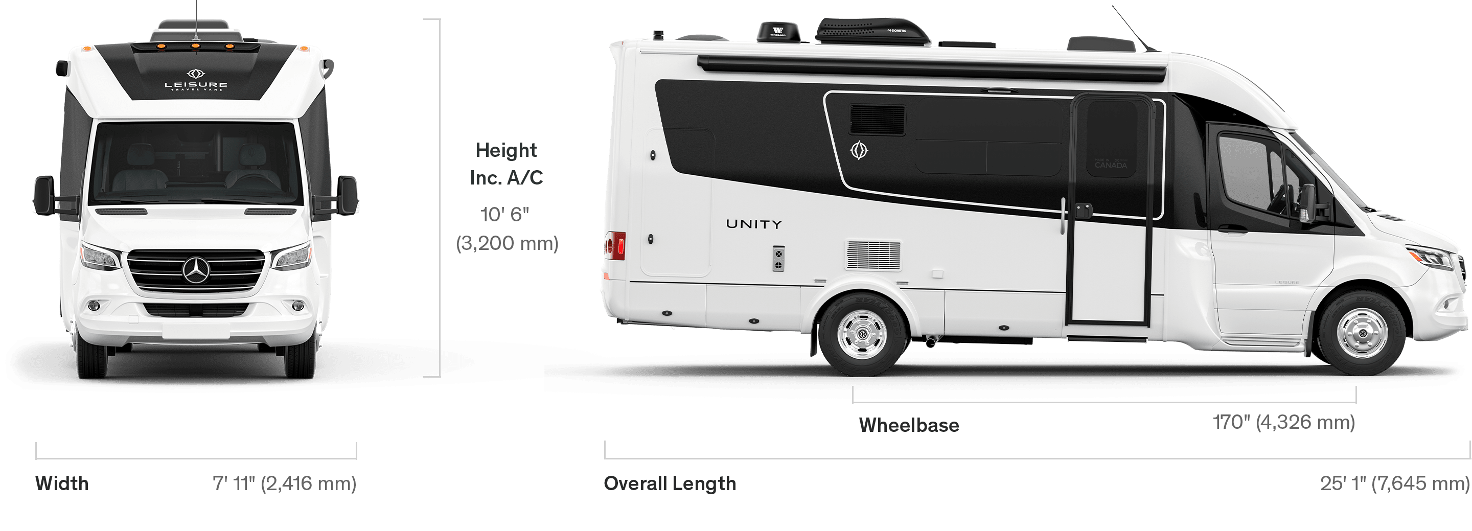 Unity Specifications Leisure Travel Vans
