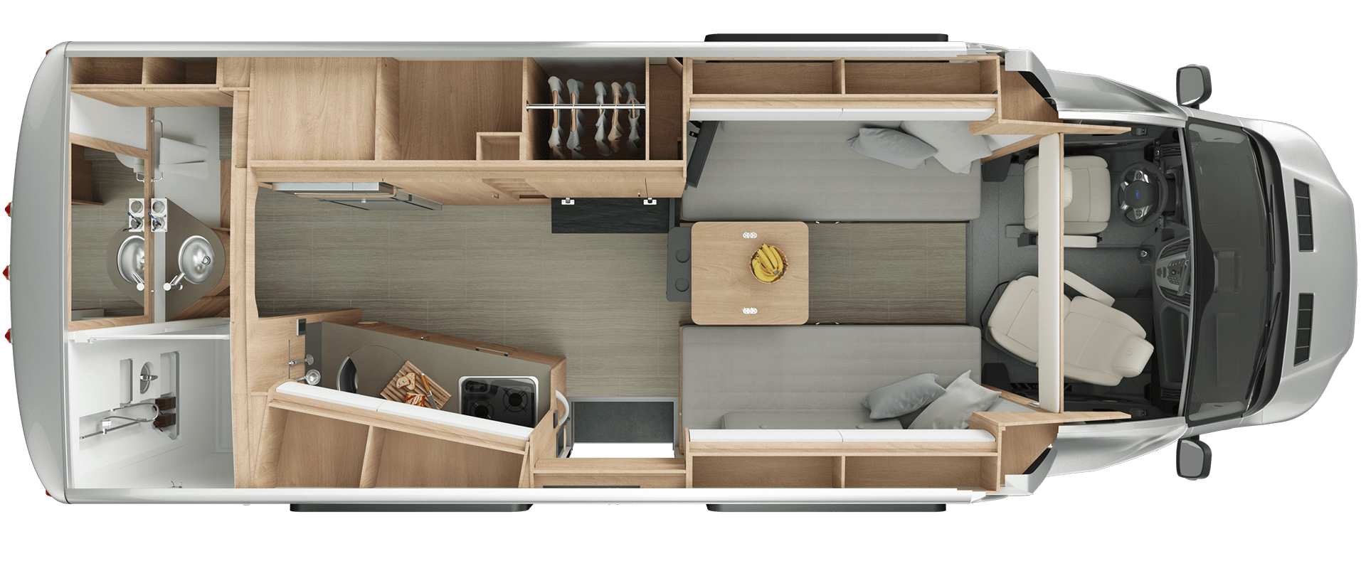 Wonder Front Twin Bed Floorplan