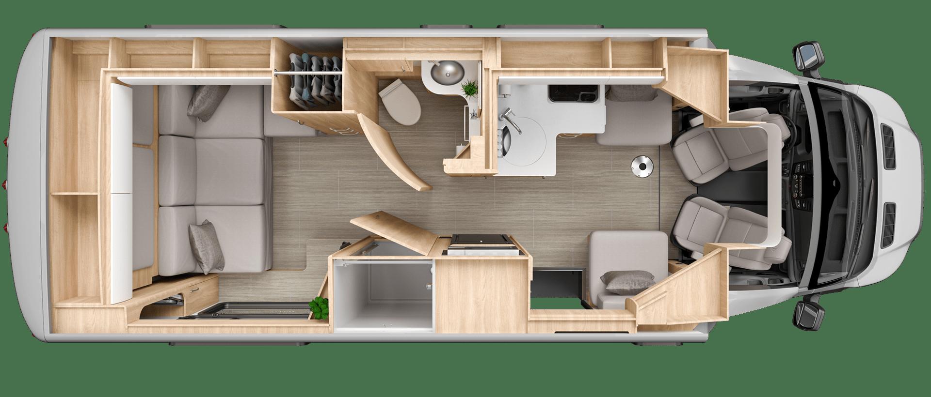 Wonder Rear Lounge Floorplan