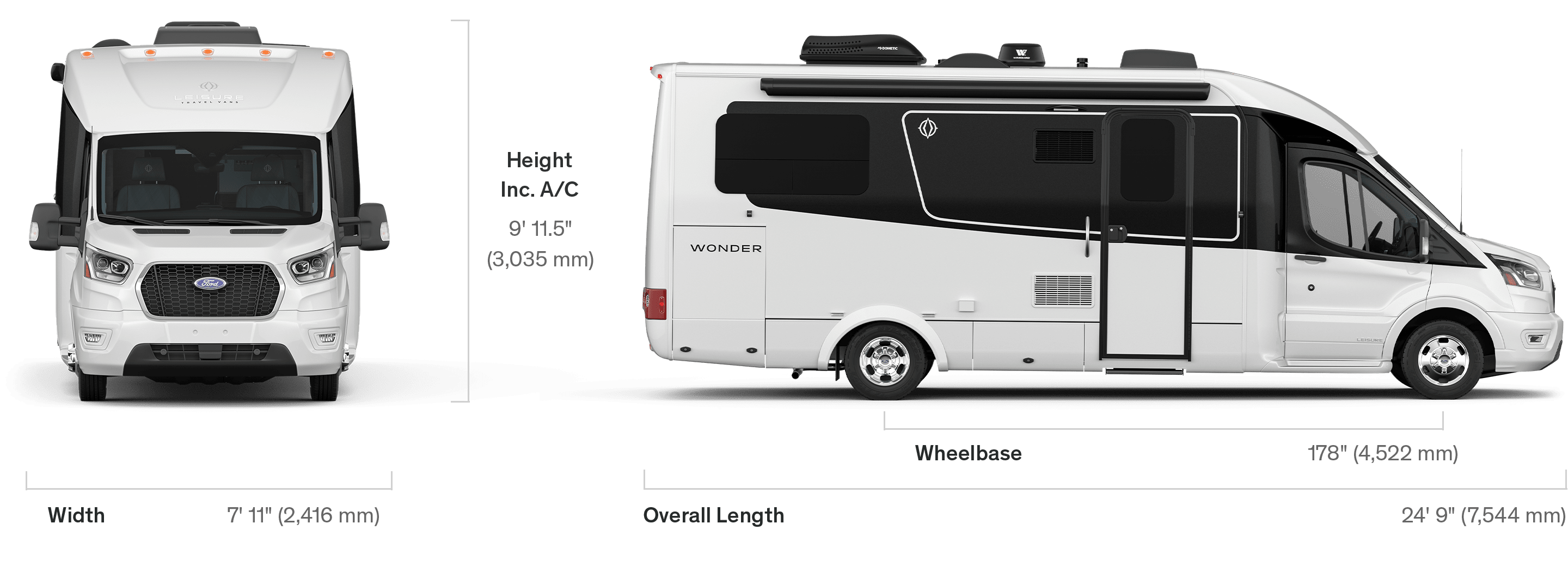 Wonder - Specifications - Leisure Travel Vans