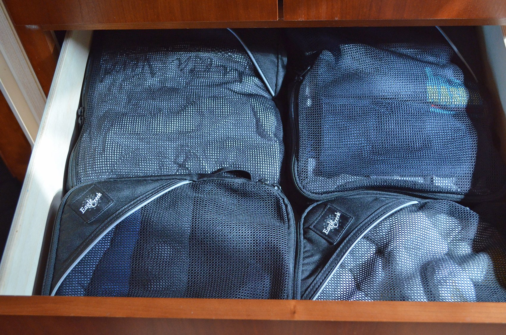 Packing Cubes in Drawer