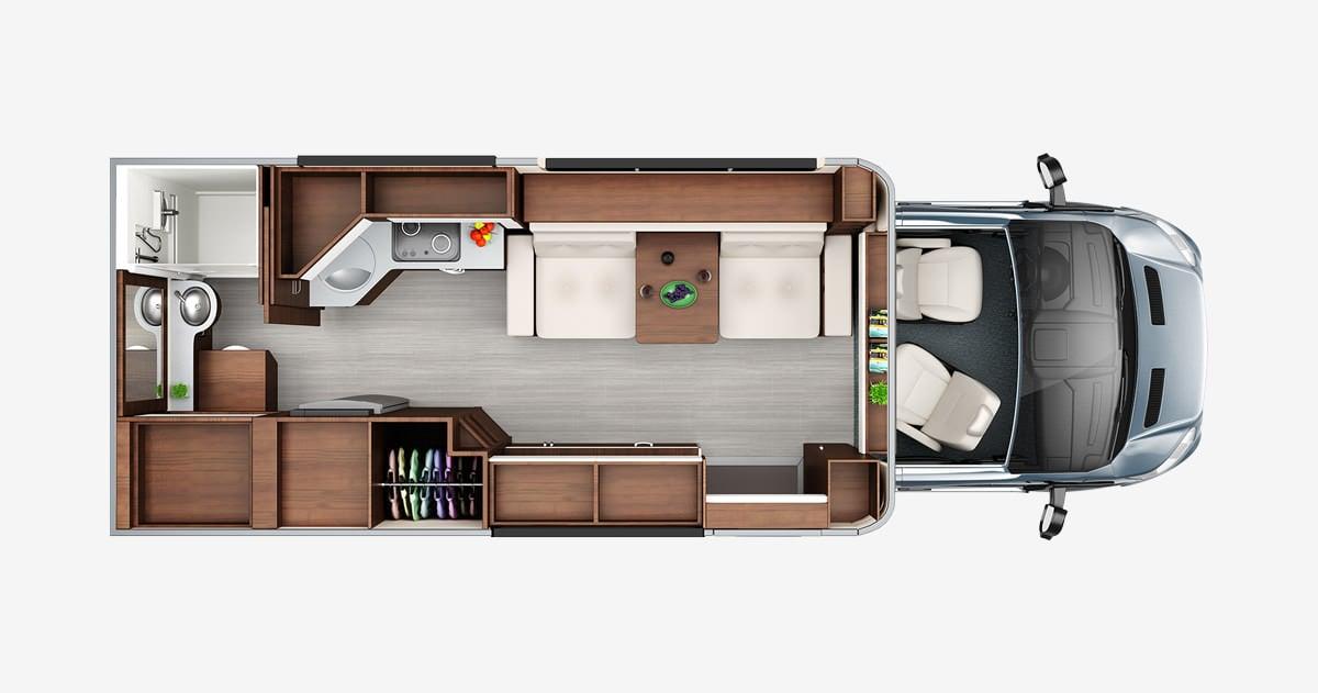 Wonder - Floorplans - Leisure Travel Vans