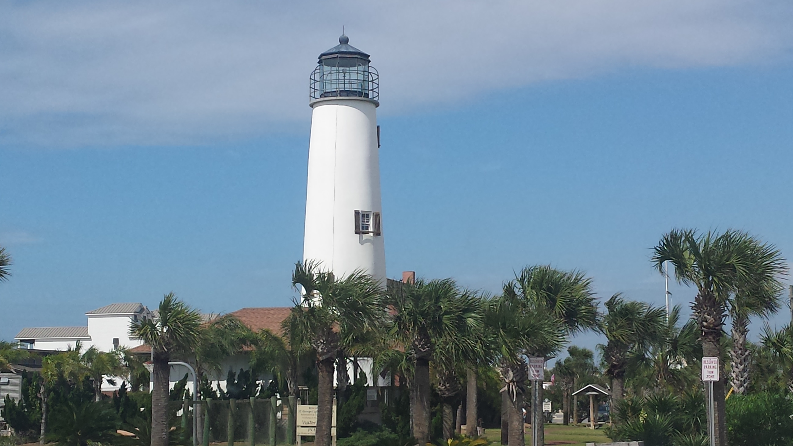 White Lighthouse on St George Island, FL