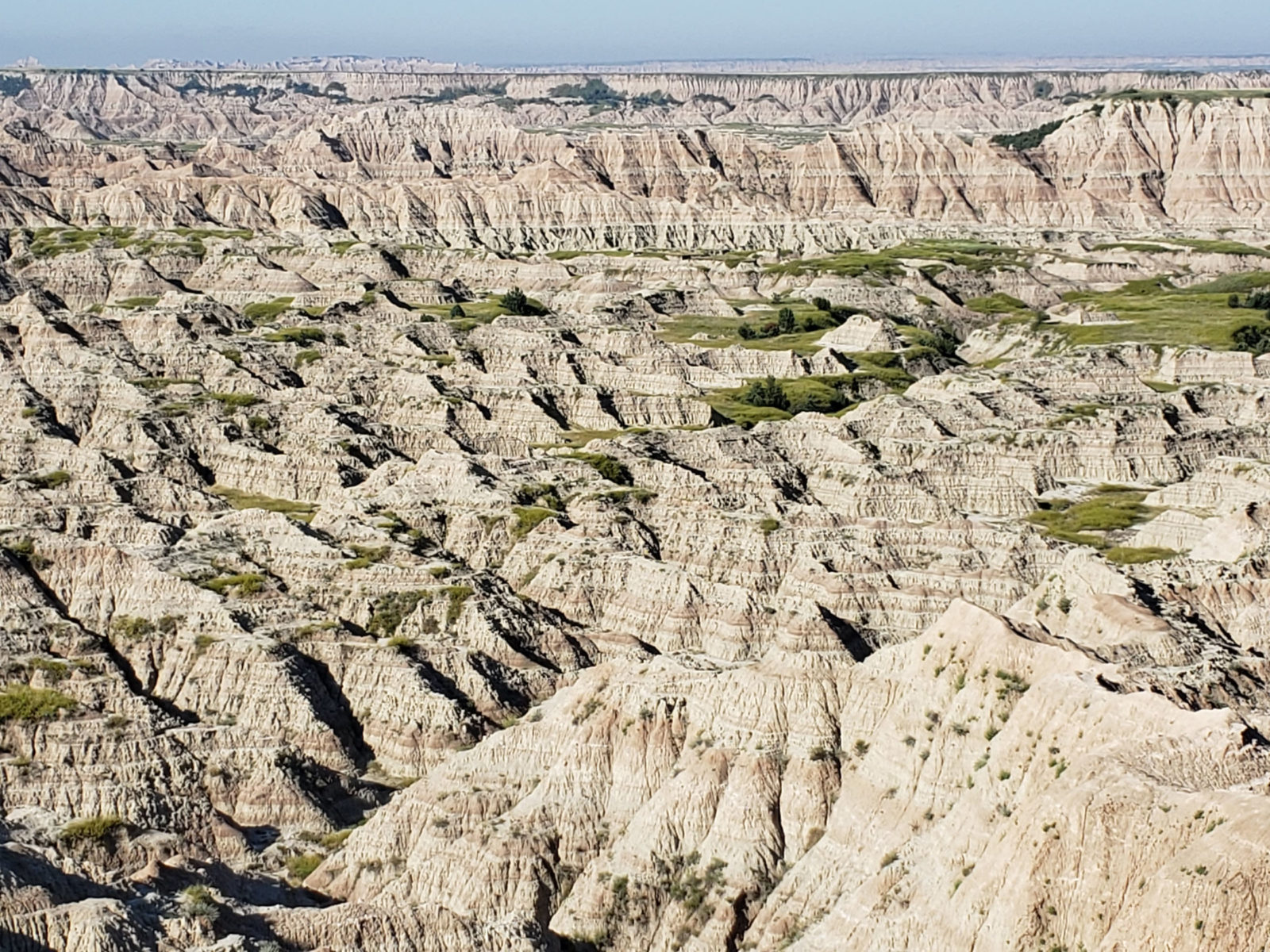 Badlands striped rock formations
