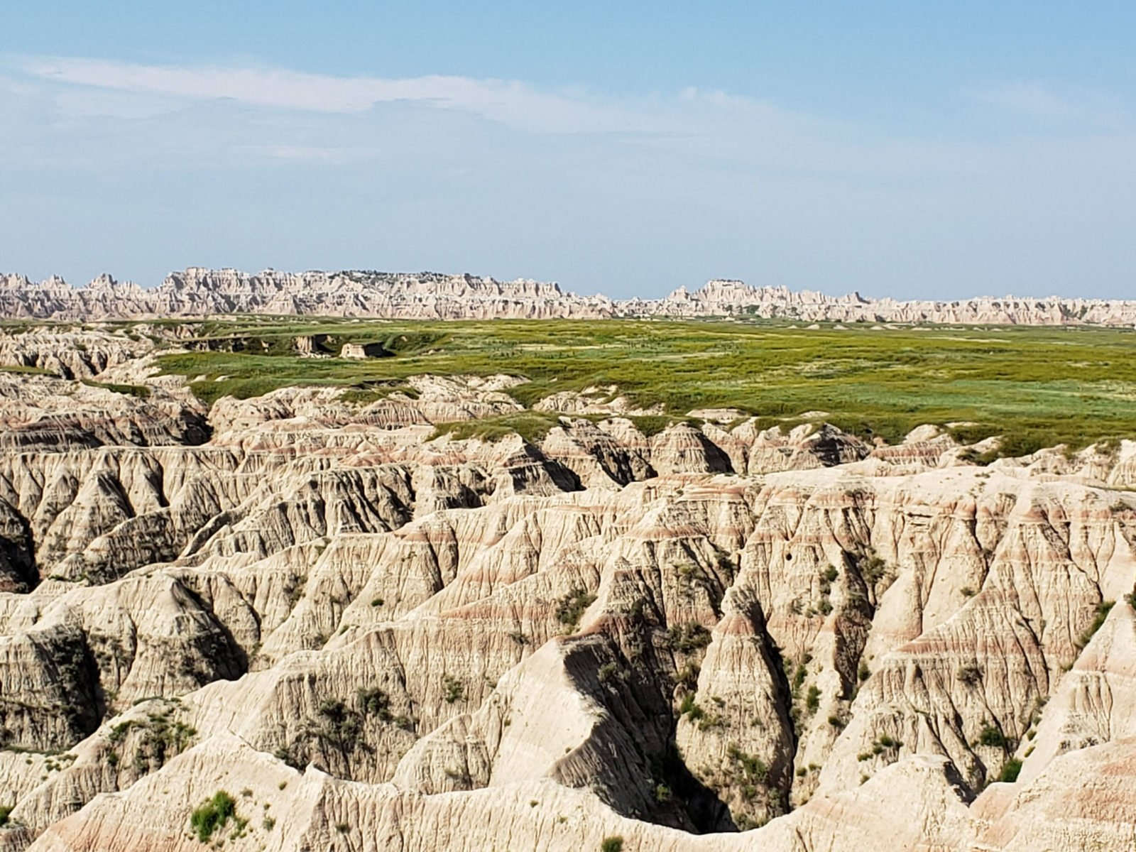 Badlands canyon and prairie