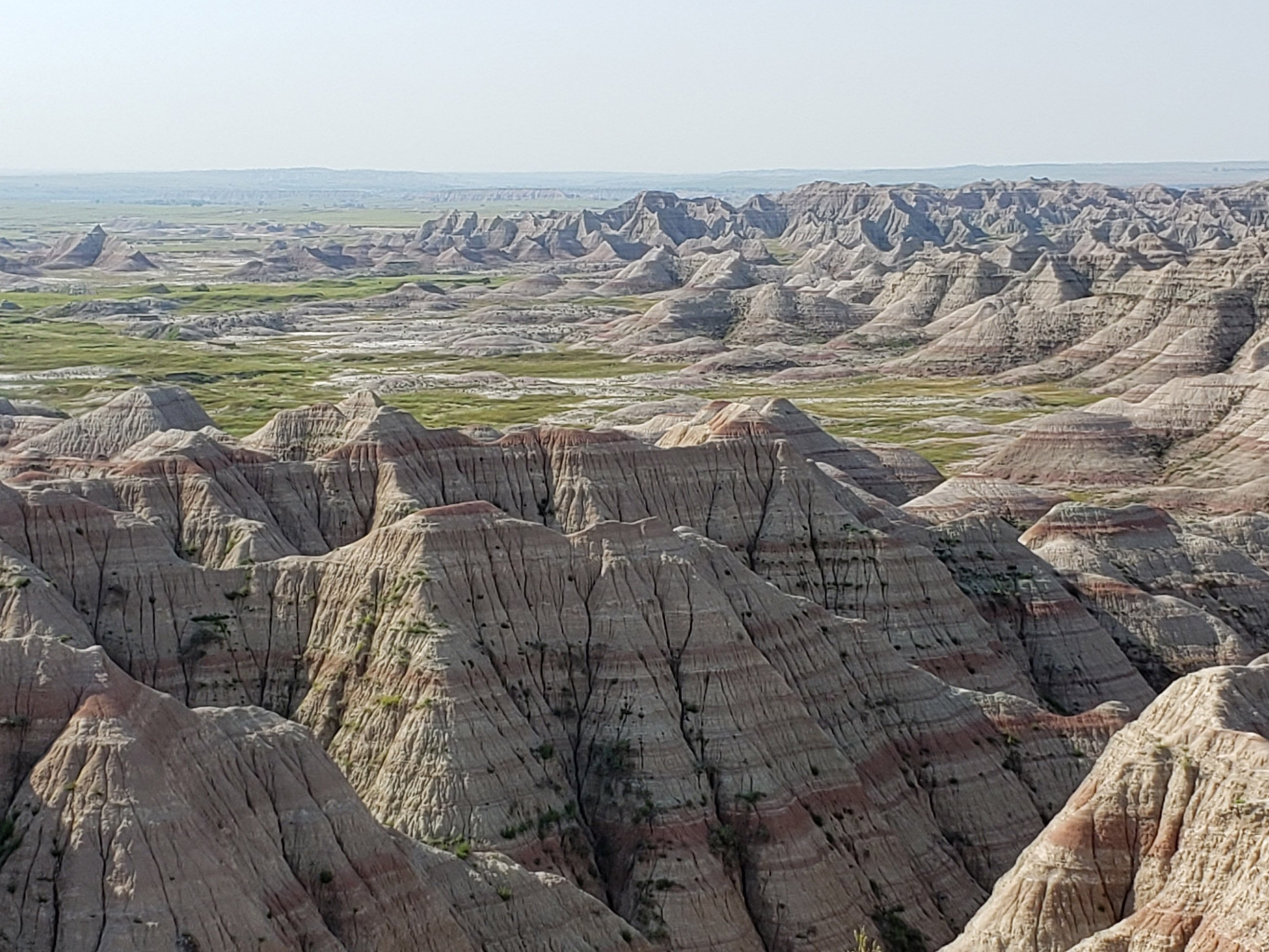 View of the Badlands from the Rim Road at Badlands National Park