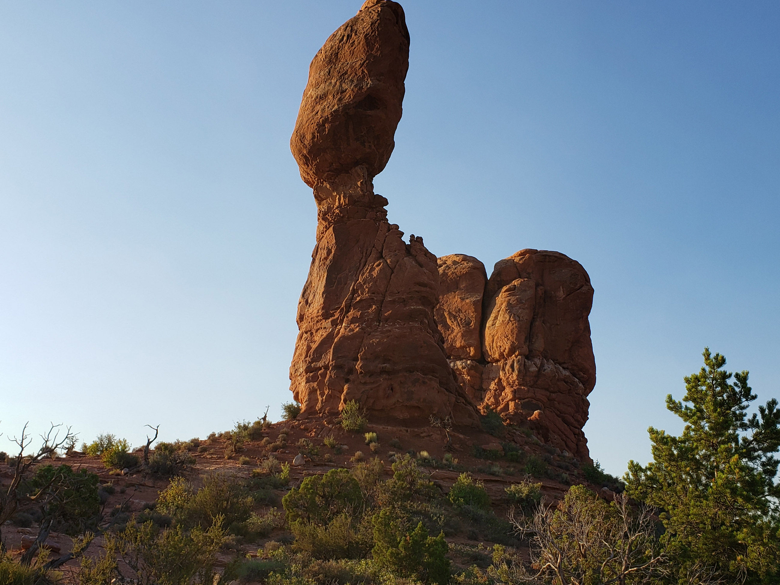 Eroded rock formation known as Balance Rock in Arches National Park