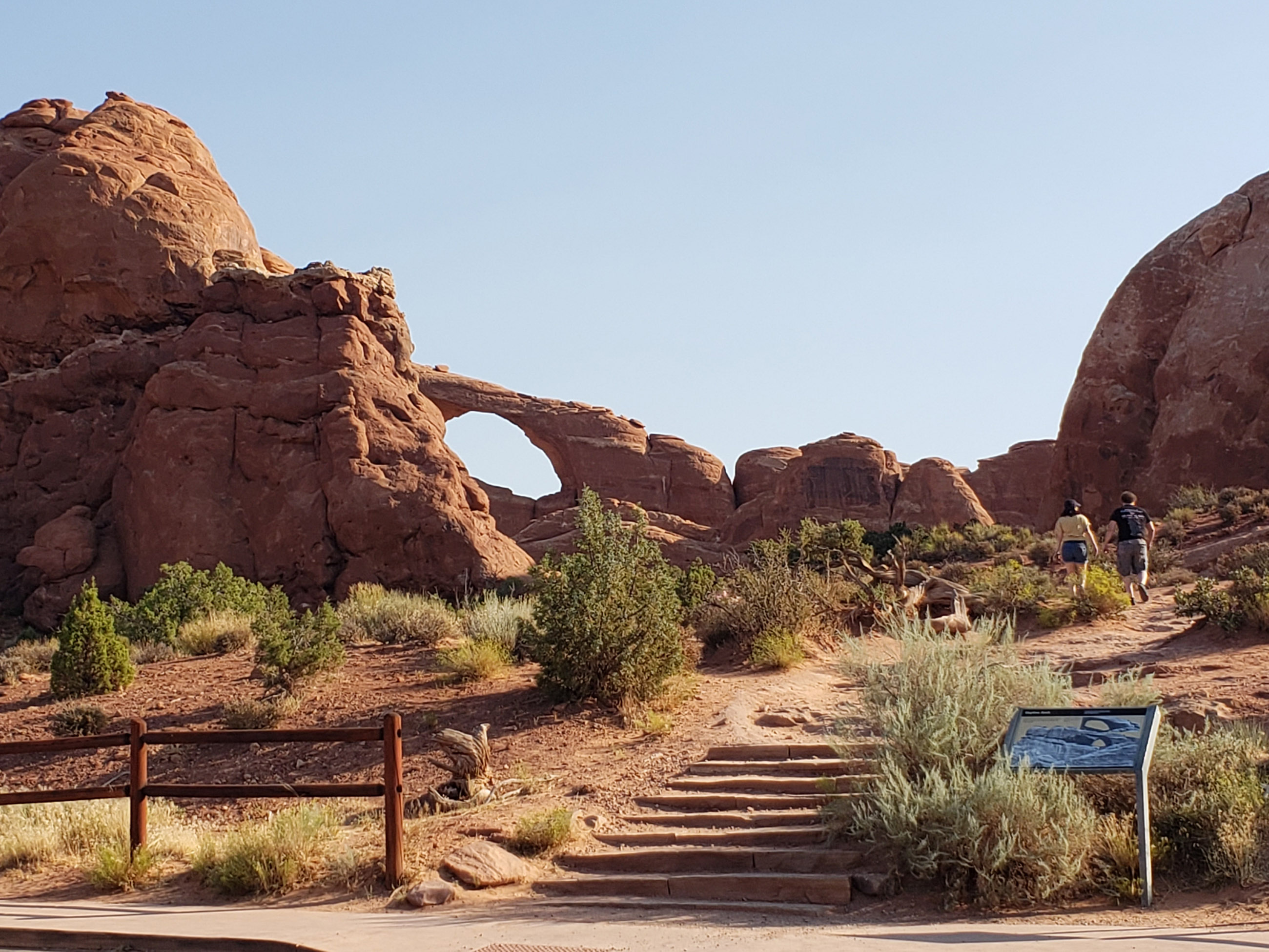 Sky Arch as seen from parking area at Arches National Park