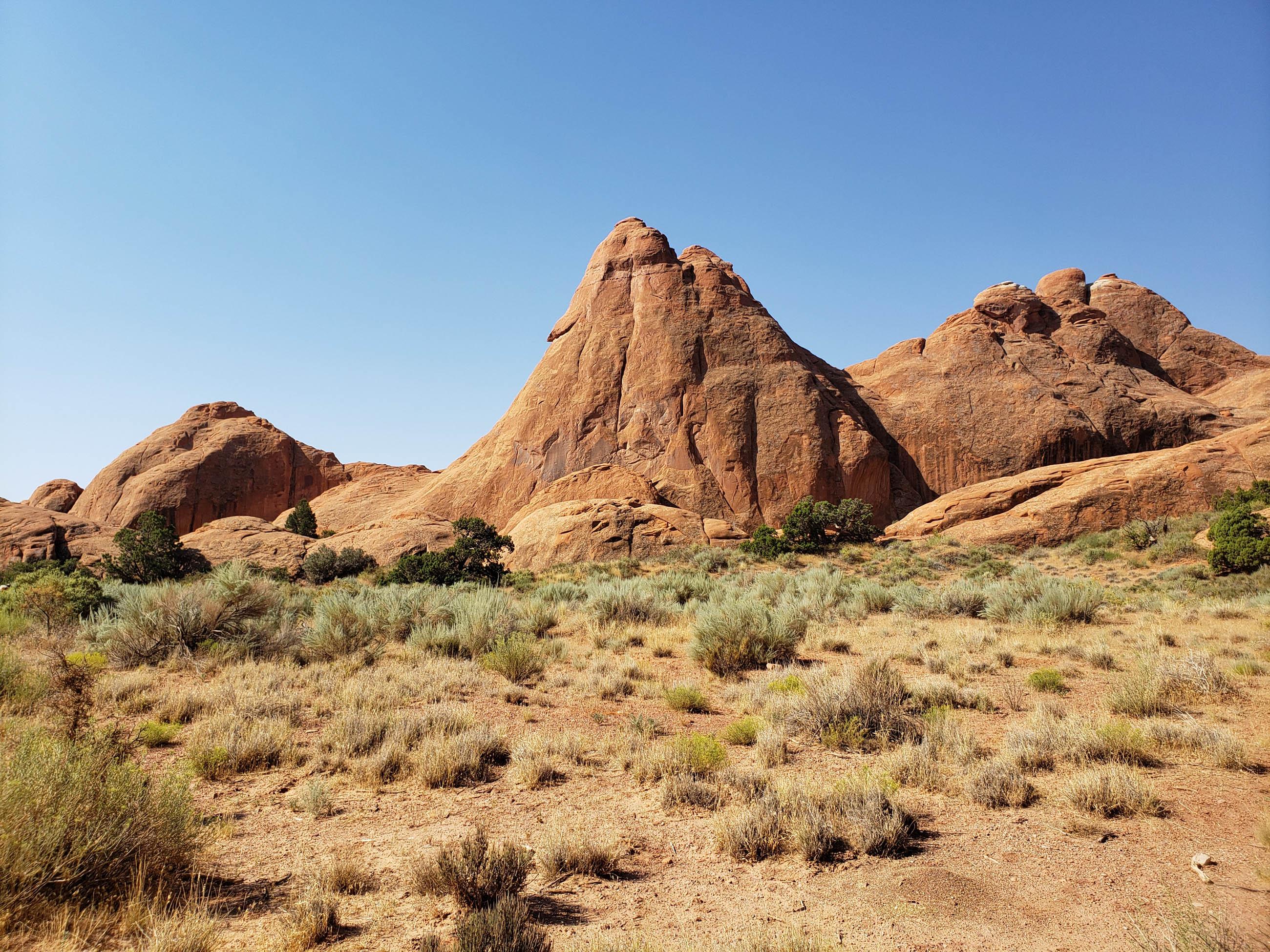 utah desert scene in summer