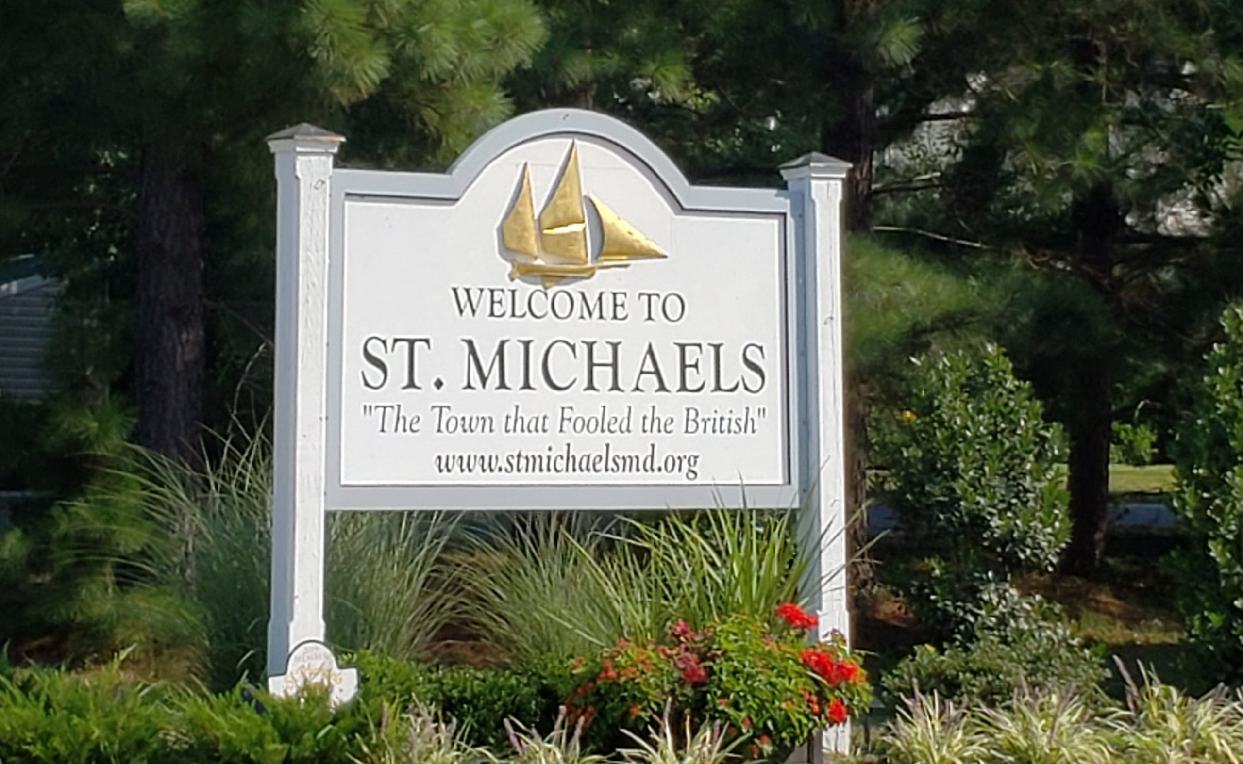 St. Michaels Town Sign