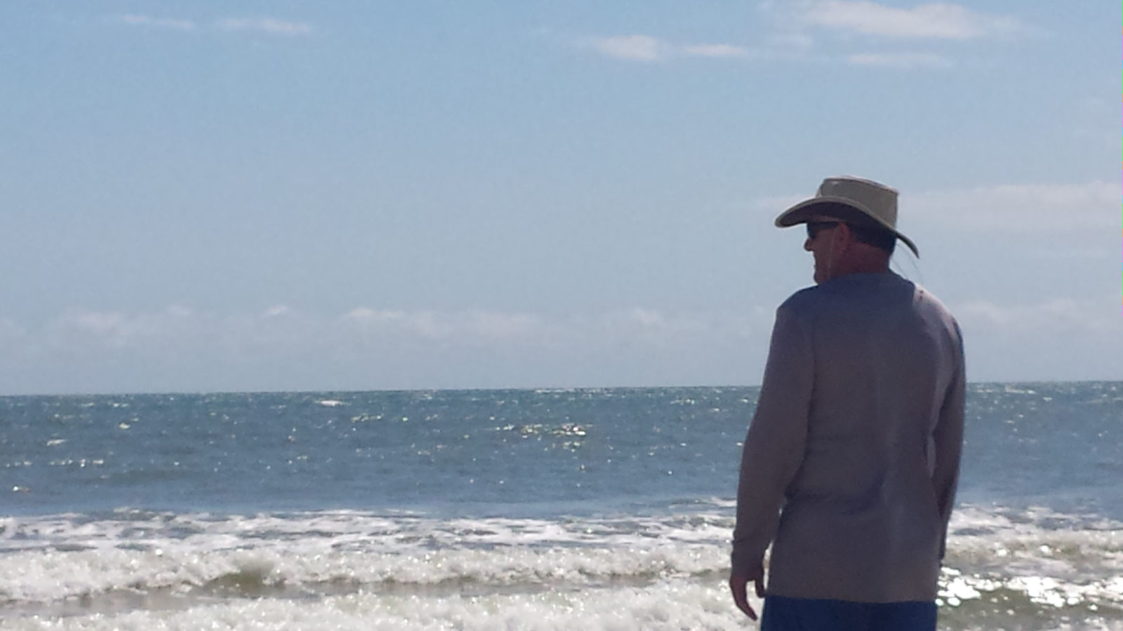 Jim on beach Cape San Blas Florida