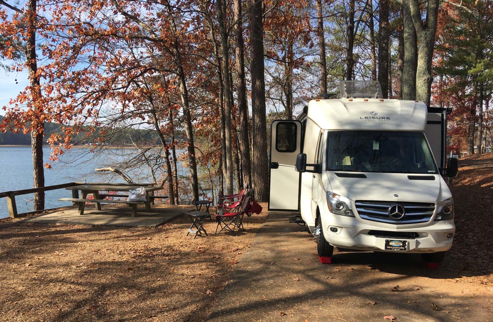 RV Campsite near lake