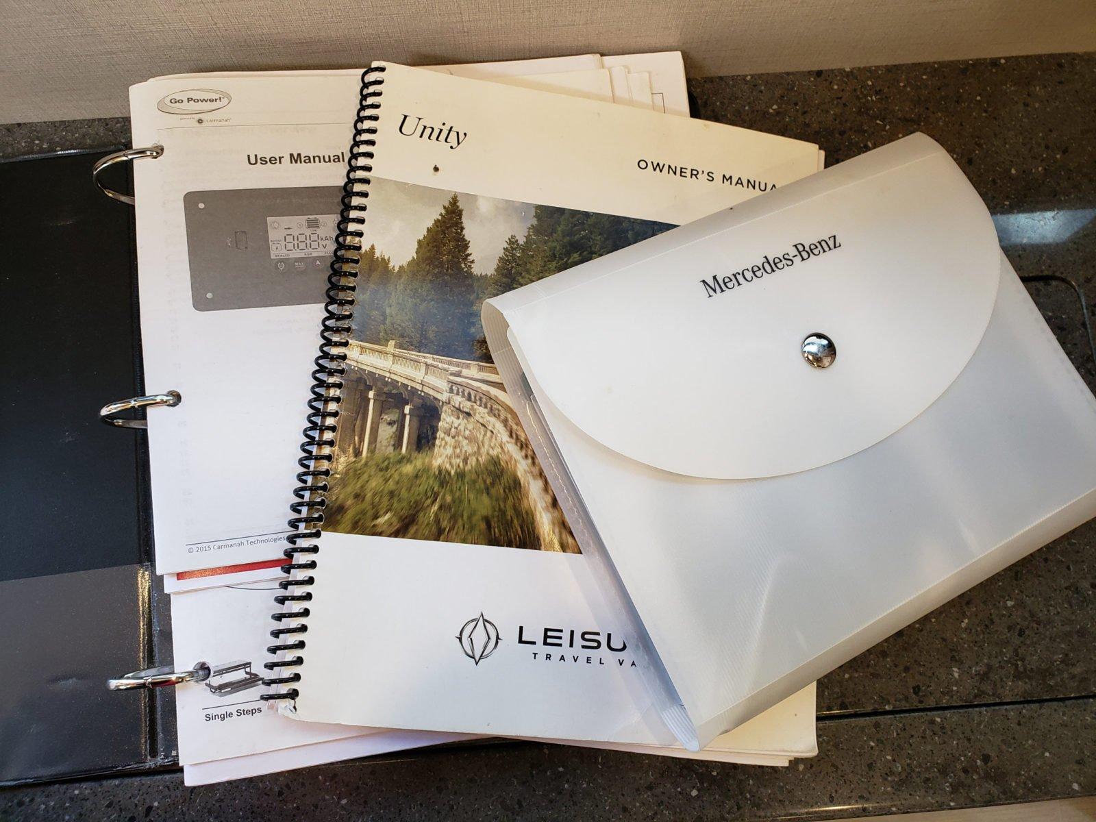 RV manuals