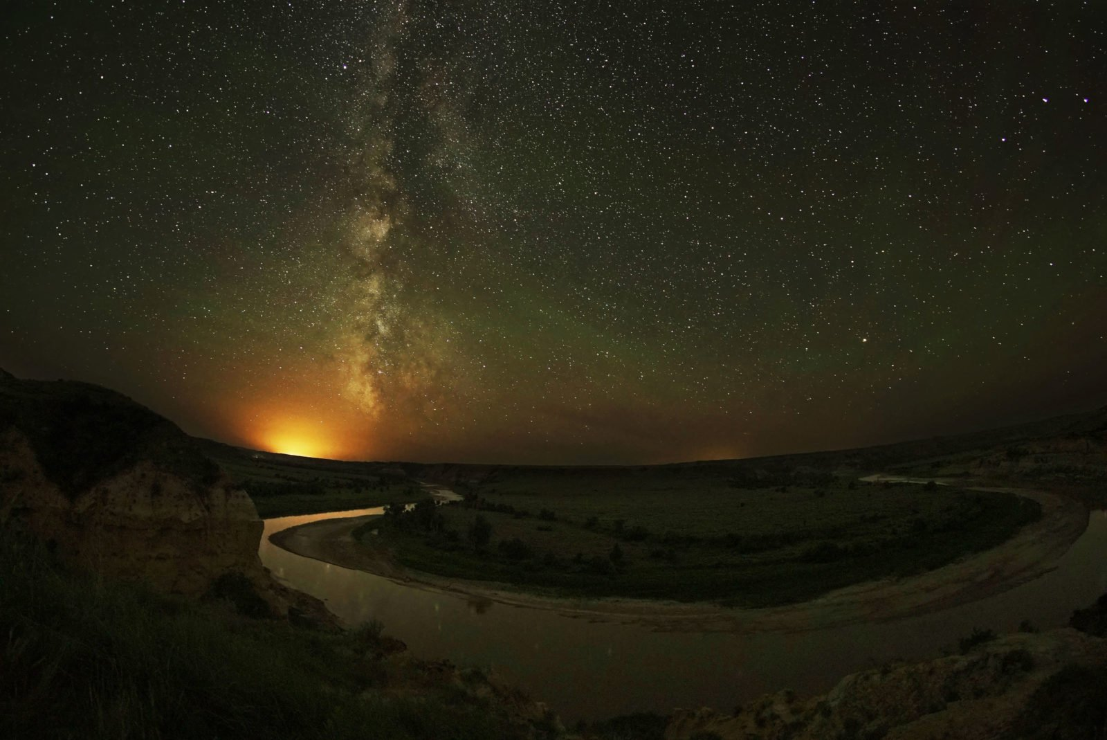 light pollution at theodore roosevelt national park