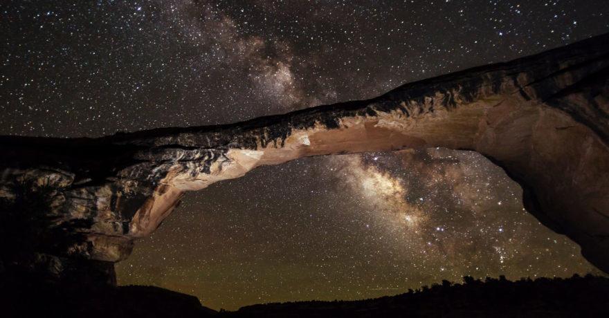 Night sky at Natural Bridges National Monument