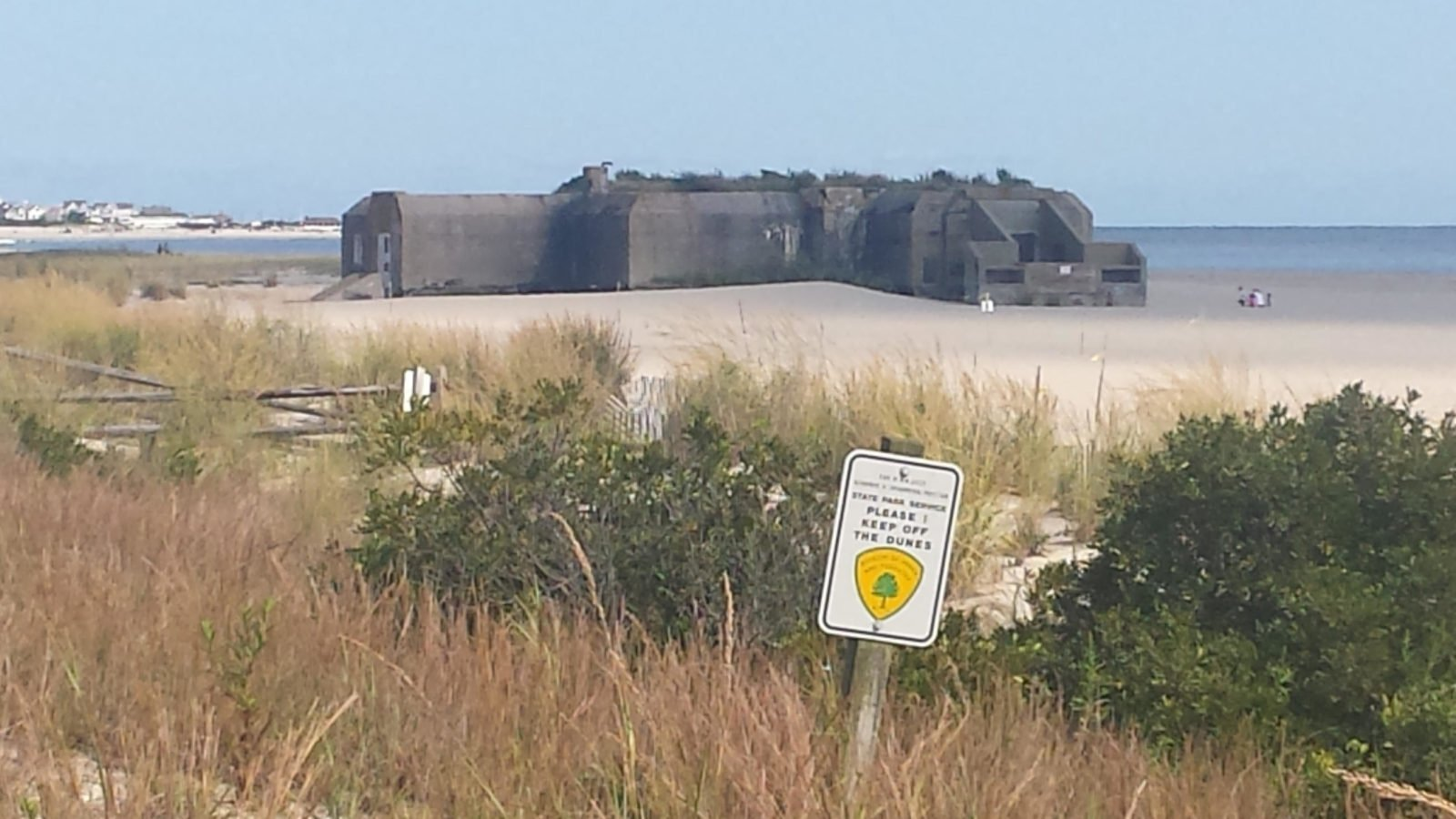WWII bunker on Cape May beach